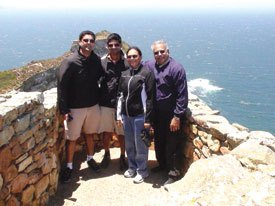 RIDE Manoj Desai and Sharmishta vacationing in South Africa with their two sons Sapan and Neil.