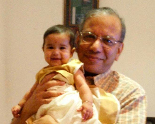With granddaughter Raika.
