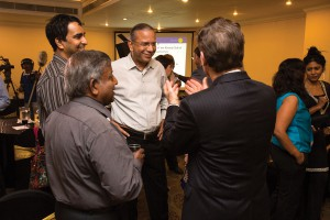Ravindran at a meeting of the Rotary Club of Colombo.