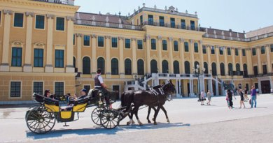 The Schonbrunn Palace in Vienna.