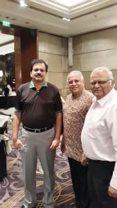 PDG Deepak Shikarpur, RID Manoj Desai and PDG Vivek Aranha.
