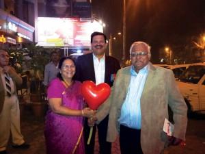 PDG Vivek Aranha and spouse Chandra with PDG Deepak Shikarpur.