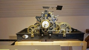 A complicated watch at the watch museum.