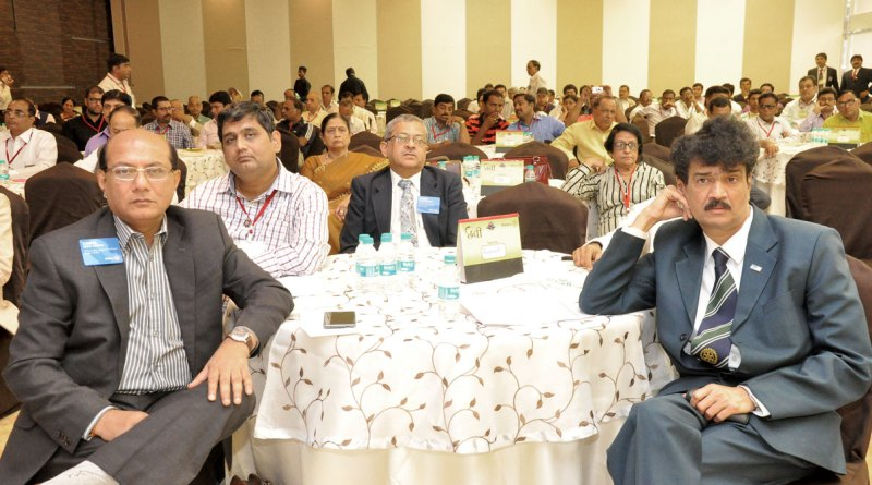 A section of the audience at the seminar; on the foreground: PDGs Kamal Sanghvi, Jayant Kulkarni and Ulhas Kolhatkar.