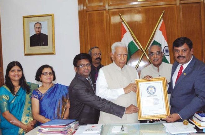 RC Bangalore South, D 3190, and Parimala Hospitals, Bengaluru, received the Guinness World Record Certificate from the Governor of Karnataka Vajubhai Vala for screening maximum number of people (1,251) for cervical cancer.