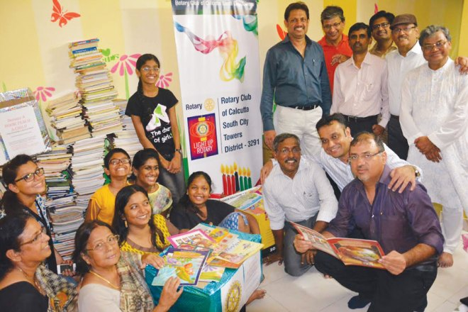 RC Calcutta South City Towers RI District 3291 <br/> Under the 'A Million Books - A Millon Smiles' initiative, 1,800 books were collected, that would promote reading habit in youngsters.
