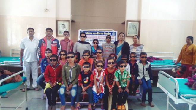 RC Deolali D 3030 The Rotarians had organised a squint eye correction camp for children and adults at an eye hospital in Deolali. The club has been involved in correcting this disorder in people for the past 17 years.