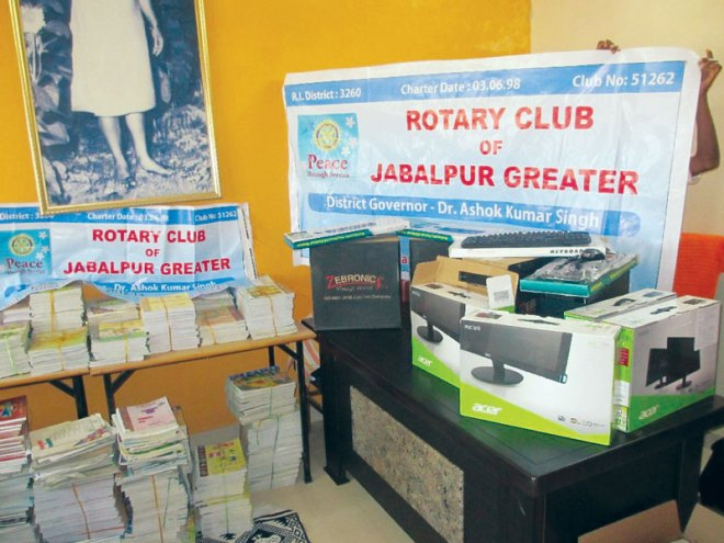 RC Jabalpur Greater RI District 3261 <br/> Along with Matching Partner RC Canada Guelph, RI District 7080 and TRF, the club provided infrastructure for Bramharsi Bawara Narmada Vidya Peeth School.