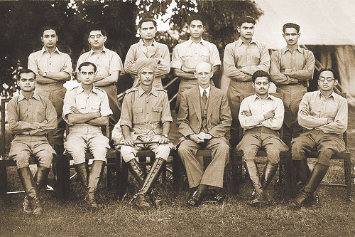 The last batch of ICS officers in the Indian Civil Service Academy Dehra Dun, India 1944.