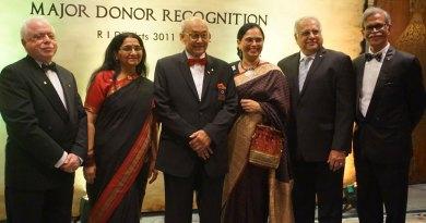 From left: TRF Trustee Sushil Gupta, Lalitha Subramanian, TRF Trustee Chair Kalyan Banerjee, Sharmishtha Desai, RID Manoj Desai and DG N Subramanian.