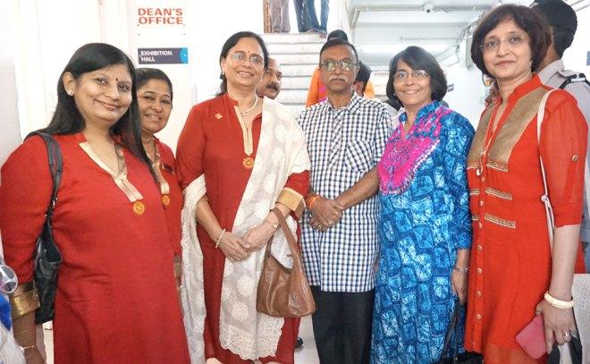 From left: DGN Pinky Patel, Sonal Desai, Sharmishtha Desai, DG Hitesh and Bhishma Jariwala and Kalpa Rachh.