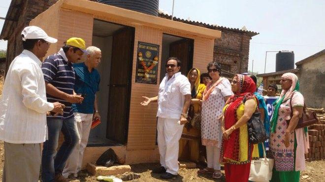 RC Mumbai Bhandup, RI District 3140 Twin toilet blocks built at club's adopted village, Mohili.