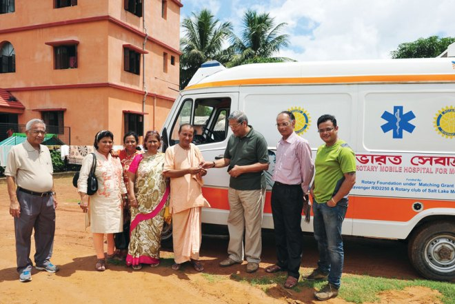 RC Salt Lake City RI District 3291 The club in association with RC Stavanger, RI District 2250, Norway donated a 'Hospital on Wheels' to Bharat Seva Ashram.