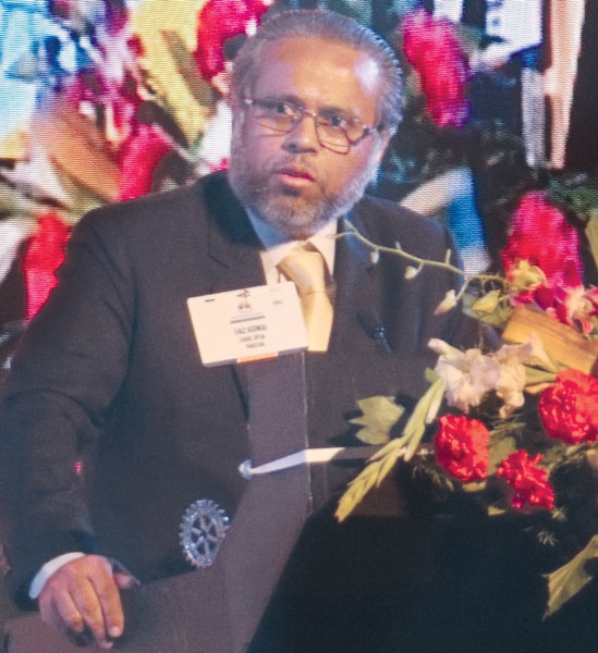 Pakistan National Literacy Chair Faiz Kidwai.