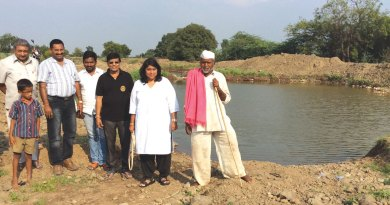 Rotarians facilitate water facilities near Pune.