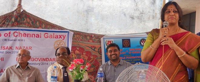 Kalyan Banerjee, ISAK Nazar, RC Chennai Galaxy President Nikhil Singhi, RC Chennai Thiruvanmiyur President Dhakshayini V.