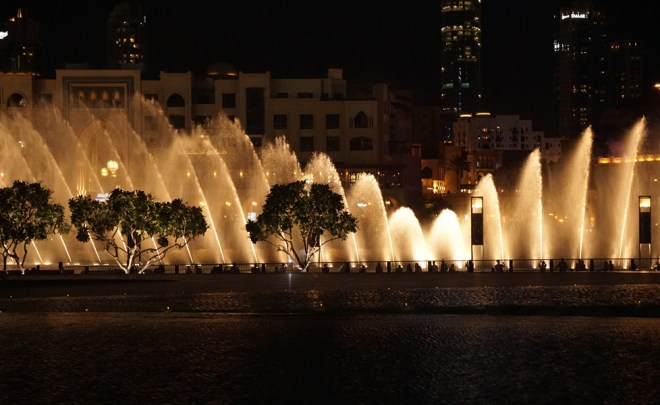 The Dubai Fountain.