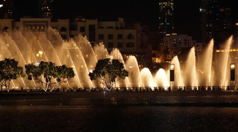 The Dubai Fountain.