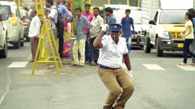 Traffic cop M Kumar