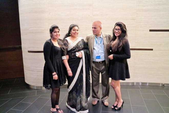 Rtn Jayantha Kumar with his family.
