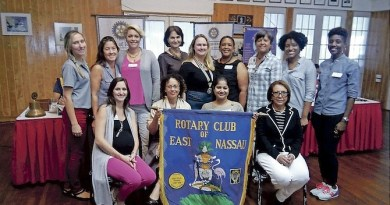 Some of the women members of the Rotary Club of East Nassau