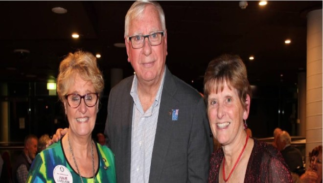Rotary Nowra's president elect Polly Hill (right), International Service Director Julie Ludlow and Rotary International president-elect Ian H S Riseley.