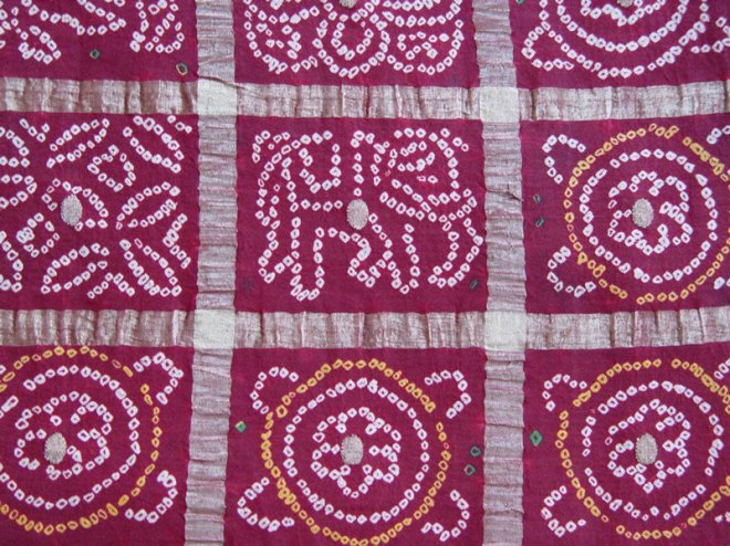 Gharchola — the wedding sari of a Marwari and Jain bride.