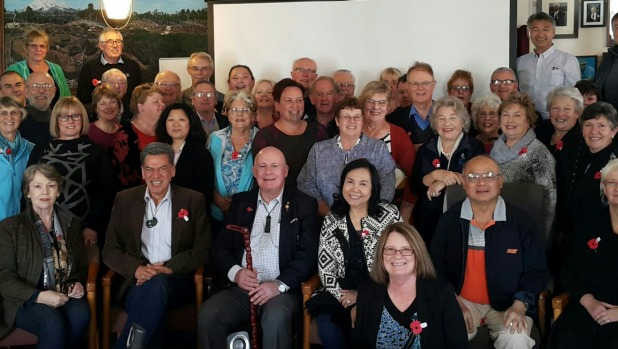 The Rotary group were welcomed by the people of Parihaka.