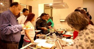 Chef Debabrata Mukherjee providing a demo.