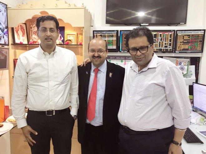From L: Tata Trusts' Managing Trustee R Venkatraman, Nirav Shah and Manoj Murarkar.