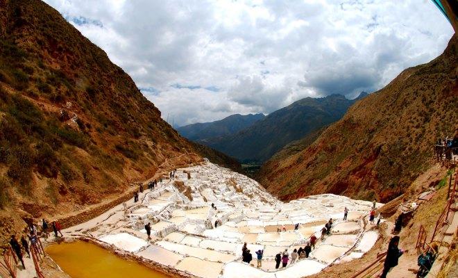 Ancient Maras salt pans.