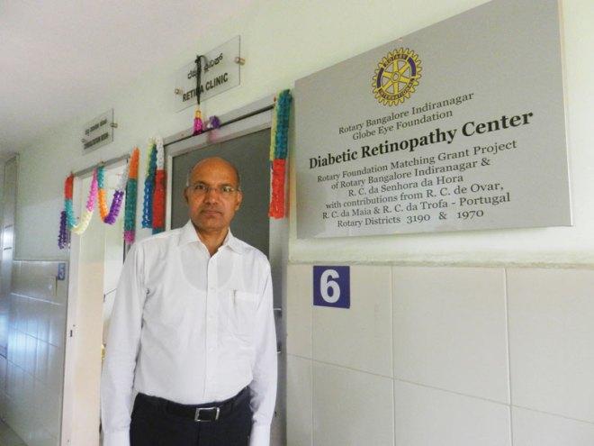 Rtn Dr Sundar Ram Shetty at the hospital.