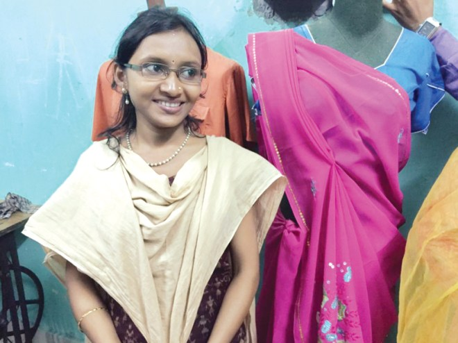 Haripriya, trained at an ITI, now employs 12 people at her boutique.