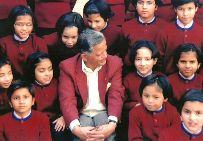 File photo of PRID Sudarshan Agarwal with the students.