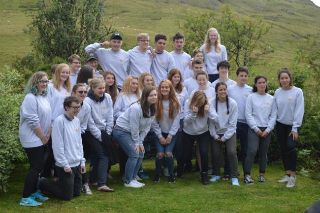 Participants at the Rotary Youth Leadership Award (RYLA).