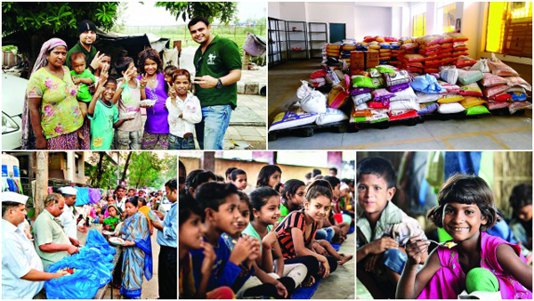 NGOs across major cities provide food to slum children through networking.