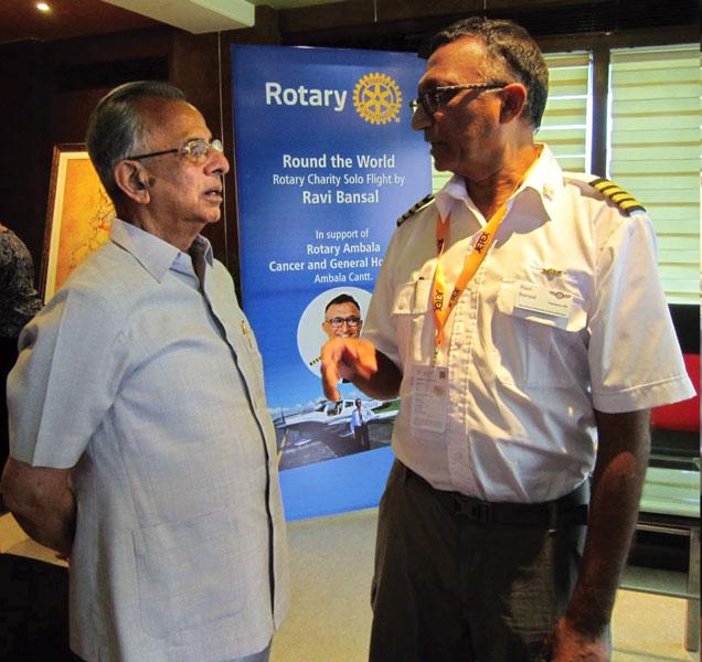 Ravi Bansal with PRIP Rajendra K Saboo.