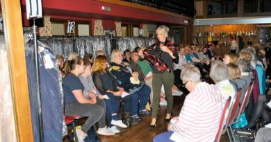 A fashion show organised by Knighton and District Rotary Club,