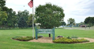 The city of Willmar with help and funding from Willmar Rotary is planning a facelift for entrance to the Robbins Island Park. Plans include a new sign, plantings and three flagpoles. Photo: Shelby Lindrud / Tribune