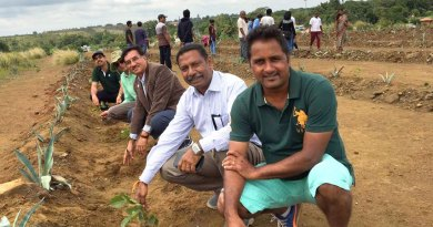 Members of RC Bangalore Orchards plant saplings in KGF area.