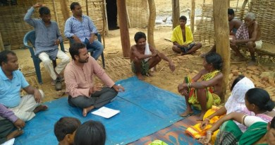 Farmers meeting on the promotion of organic farming.