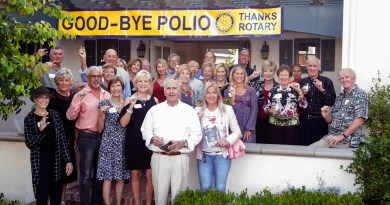 "Rotary End Polio Now Co-Chairs Pat Flynn and Sue Maack announced that together we are ""This Close"" to eradicating polio with only a few polio cases left in the world. Coronado Rotary asks for ""A Little Help from Our Friends"" in ending polio worldwide and having the disease disappear for good. Photo: Rotary International"