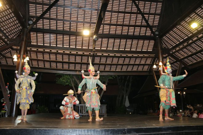 A traditional Thai dance