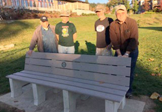 From left, Rotarians Walt Elliott, Jim Dixon, Matt House and Don Hutchins. Contributed photo