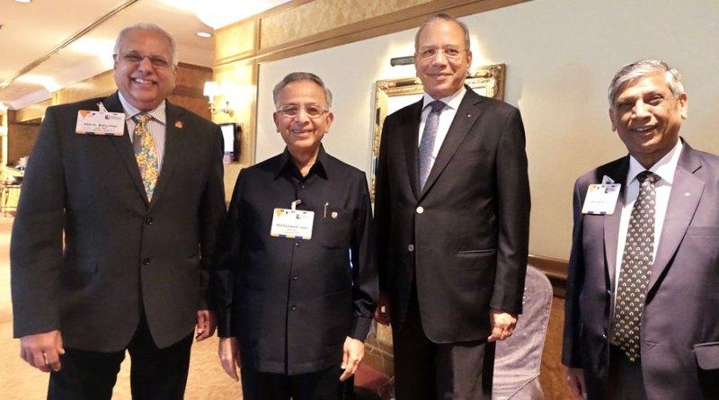 From L: PRID Manoj Desai, PRIP Rajendra K Saboo, PRIP K R Ravindran and PRID Y P Das.