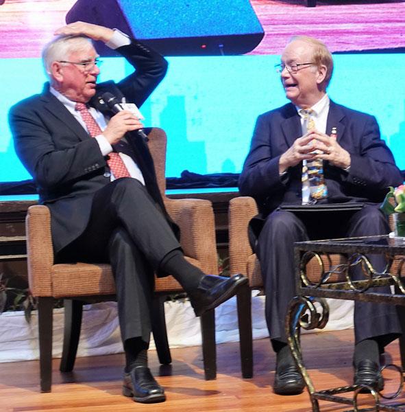 RI President Ian Riseley and TRF Trustee Chair Paul Netzel.