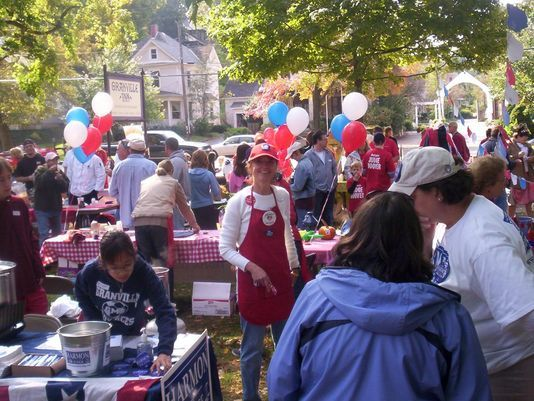 Participants gather for a Granville Rotary Chilli Cook-Off in the past. Photo: Submitted