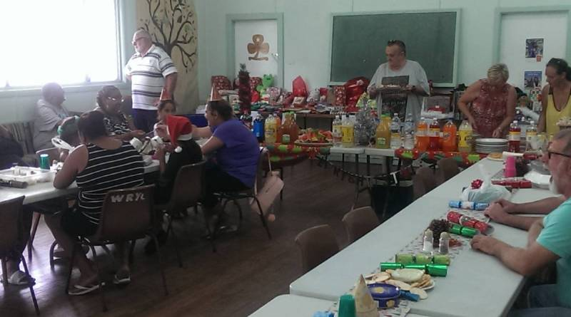 Helping hand: The Rotary Hall was filled with Christmas cheer.