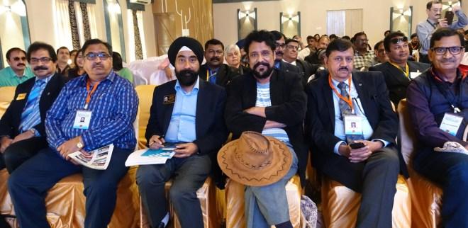(From R) D 3262 PDG Ashok Mohapatra, D 3261 PDGs S P Chaturvedi, Shashi Varvandkar, D 3262 DG Harjit Hura, PDG Rakesh Dave and DGE Nikhilesh Trivedi.