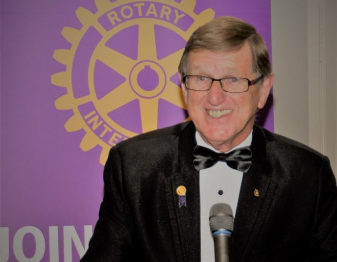 Past District 5040 Governor John Anderson, of the Rotary Club of Tsawwassen, who chaired the conference, said he was pleased with the decision taken by the clubs. Photo: Submitted